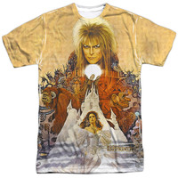 Labyrinth Cover Art White Poly T-Shirt