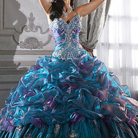 Beaded Formal Gowns, House of Wu Beaded Prom Gowns- PromGirl
