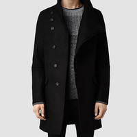 Mens Sylvan Coat (Black) | ALLSAINTS.com