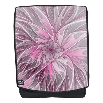 Fractal Pink Flower Dream, floral Fantasy Pattern Backpack