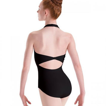 Motionwear Women's Pinch Front Halter Leotard