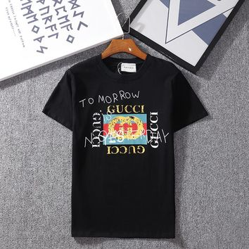 Stylish GUCCI Summer Classic Round Collar T-Shirt Top Tee