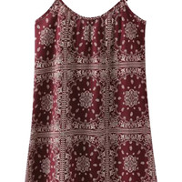Printed Spaghetti Strap Mini Dress