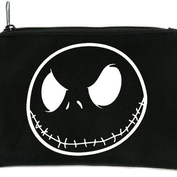 Negative Jack Skellington Face Cosmetic Makeup Bag Pouch Nightmare Before Christmas