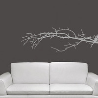 Small Tree Branch Vinyl Wall Decal 22112 by CuttinUpCustomDieCut
