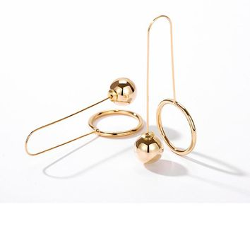 MTCHONG New Vintage Jewelry Punk Style Hoop Earrings Gold Color Geometric Round Metal  Earrings for Women 407