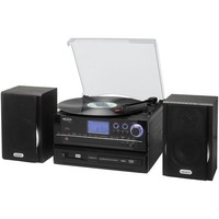 Jensen(R) Jensen Jta-990 3-Speed Stereo Turntable Cd Recording System With Cassette Player, Am/Fm Stereo Radio & Mp3 Enc