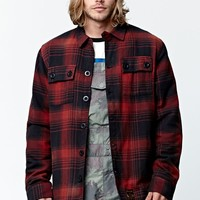 Analog Bowery Riding Snow Flannel Shirt - Mens Tee - Red - Medium