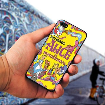 Alice in Wonderland Disney Cover Book cover case for iPhone 4 4S 5 5C 5 5S 6 Plus//Samsung Galaxy s3 s4 s5//Note 3