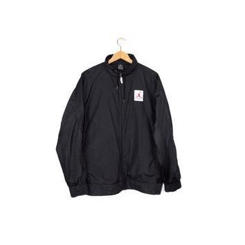 NIKE AIR JORDAN flight jacket / black monochrome / big logo / black mesh windbreaker /