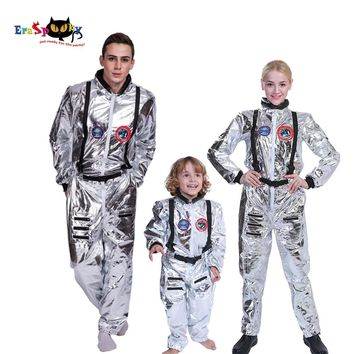 Men Astronaut Alien Spaceman Costume Carnival Party Adult Women Outfits Halloween Costumes Group Family Cosplay Matching Clothes