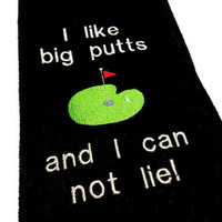 Golf Towel, Funny Golf Towel, Embroidered Golf, Golf Gift, Golfer Gift, Premium Cotton, Tri-Fold Golf Towel, Funny Golf Gift, Custom Golf