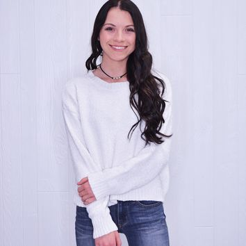 The Abigail Sweater White