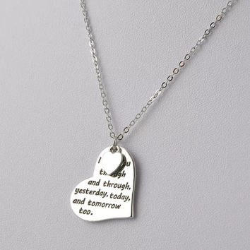 I Love You Through Stamped Necklace