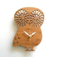 Modern Baby Clock Owl by decoylab on Etsy