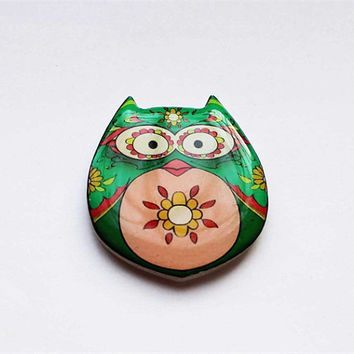Free shipping Brooch - animal brooch-Colored owl-4