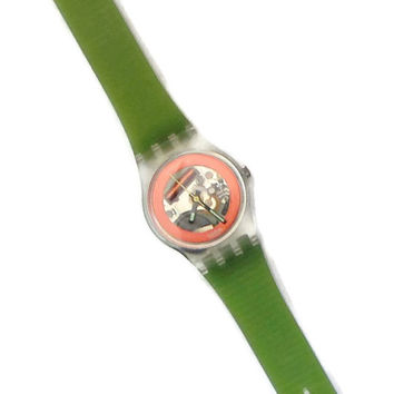 Vintage Swatch Watch, Disque Rouge Swatch Watch, 1980's Swatch Watch, Retro Watch, Swatch Watch