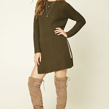 Side-Slit Longline Sweater