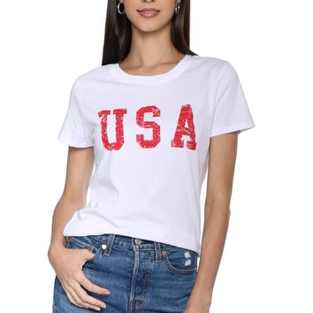 Z Supply USA Perfect Crew Tee