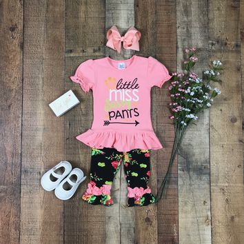RTS Little Miss Sassy Pants Two Piece Outfit D29