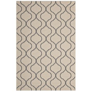 Linza Wave Abstract Trellis 8x10 Indoor and Outdoor Area Rug