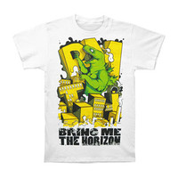 Bring Me The Horizon Men's  Dino Destruction T-shirt White