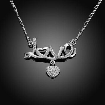 Fine 925 Sterling Silver Necklace Chains - Love Heart Design - Lobster Clasp