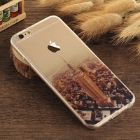 Empire State Building Case TPU Cover for iphone 7 7 Plus & iphone 6 6s Plus & iphone se 5s + Gift Box