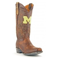 Gameday Boots Mens Leather Michigan Board Room Cowboy Boots