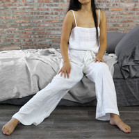"""Joan"" Linen Pajamas Trousers for Women"