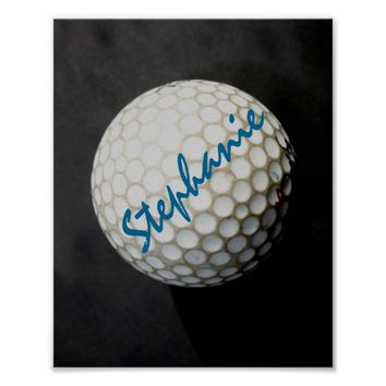 golf custom poster to personalize for golfers