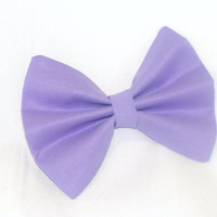 Hair Bow Vintage Inspired 1920s Purple Hair Bow Clip Rockabilly Pin up Teen Woman