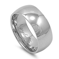 Unisex Stainless Steel Comfort Fit 9mm Wedding Band