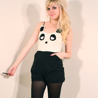 Panda Bear Playsuit MADE TO ORDER by imyourpresent on Etsy