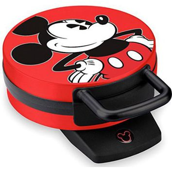 Disney Mickey Mouse Non-Stick Electric Waffle Maker, Red and Black - Walmart.com
