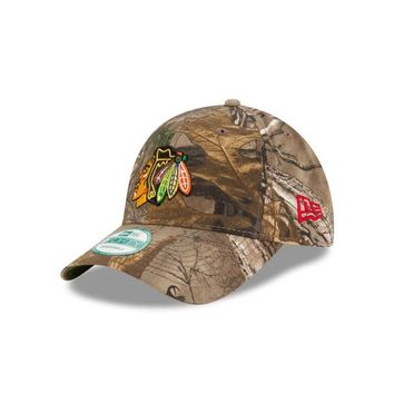 Chicago Blackhawks 9FORTY the League Realtree Camo Adjustable New Era Hat