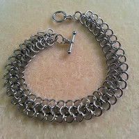 European 4 in 1 Chainmaille Bracelet or Anklet, Chainmaille Bracelet, Chainmaille Anklet, Chainmaille Jewelry