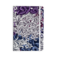 "Nick Atkinson ""Celtic Floral I"" Purple Abstract Everything Notebook"