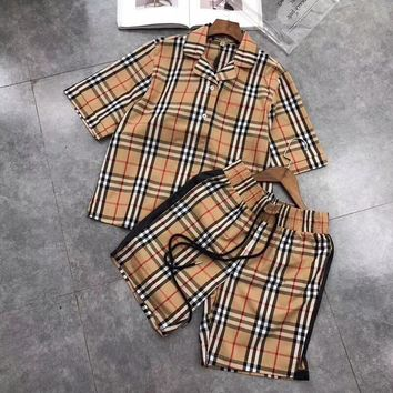 Burberry Print Short sleeve Top Shorts Pants Sweatpants Set Two-Piece Sportswear
