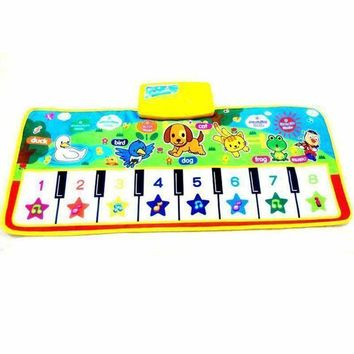 baby music carpet baby music mat Newborn Baby Kid Children Crawling Piano Musical carpet musical mat blanket Rug toy gift animal