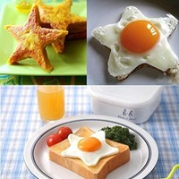 Amazon.com: Stainless Steel Star Shape Kitchen Fried Egg Mold Cookie Cutter Tools