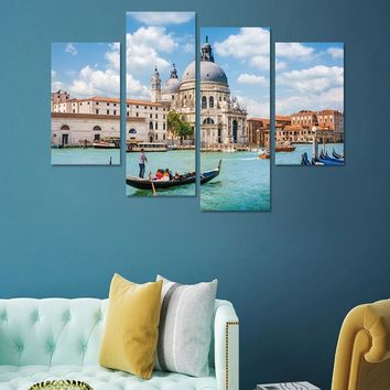 4pcs/set 3D Combination Wall Stickers Water City of Venice