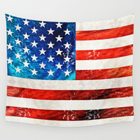 American Flag Art - Old Glory - By Sharon Cummings Wall Tapestry by Sharon Cummings