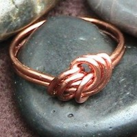 Copper Lovers Knot Ring