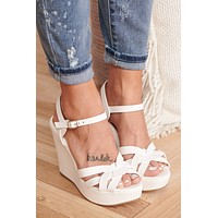 Outspoken Wedges (White)