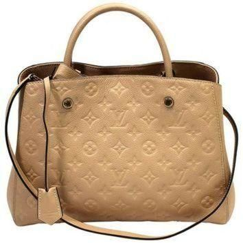 Tagre™ ONETOW Louis Vuitton Dune Monogram Empreinte Leather Montaigne MM Bag