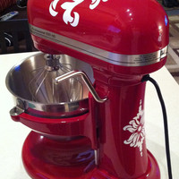 Vinyl Damask Decals for KitchenAid Mixer FREE by DWDesign8 on Etsy