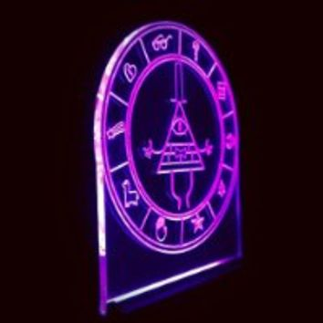 Gravity Falls Lamp Toys, Bill secrets map led night light Lamp, Bill cipher wheel
