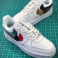 The Shoe Surgeon X Nike Air Force 1 Whit Af1 Low Swoosh  Sport Shoes - Best Online Sale