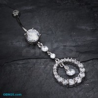 Eternity Circle Sparkle Belly Ring